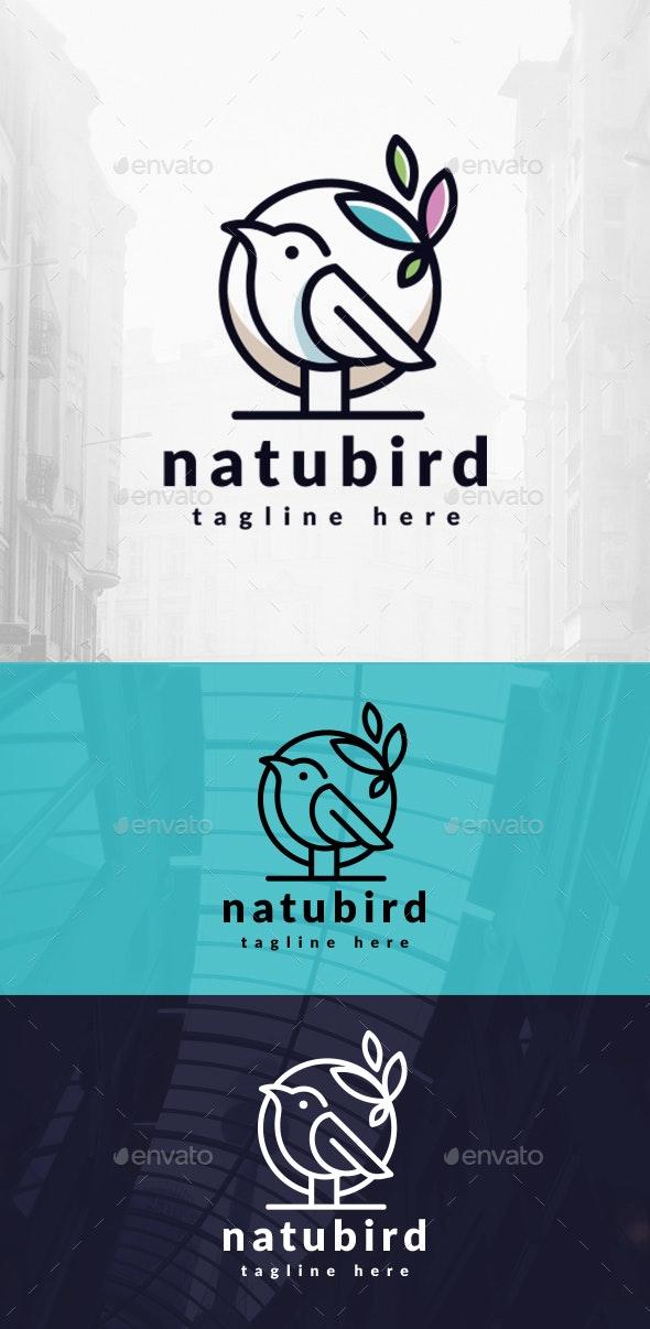 Natural Bird Logo - Animals Logo Templates