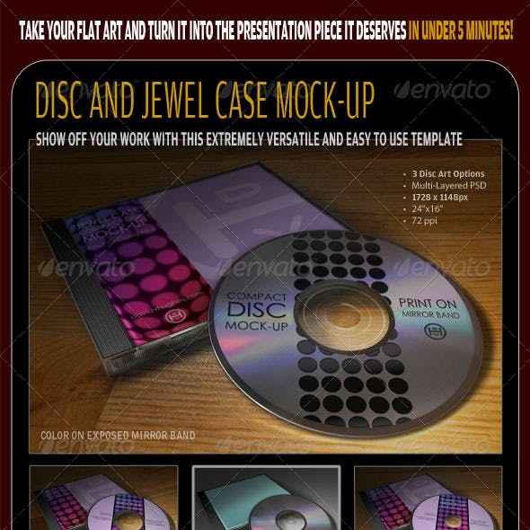 CD - Jewel Case and Digipak Mock-Ups