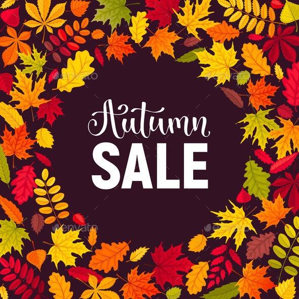Autumn Leaves Composition - Borders Decorative