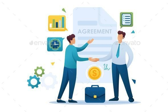Young Businessmen Agreement Partners - People Characters