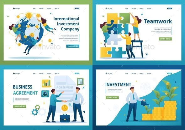 Set Flat 2D Concepts Teamwork - Concepts Business
