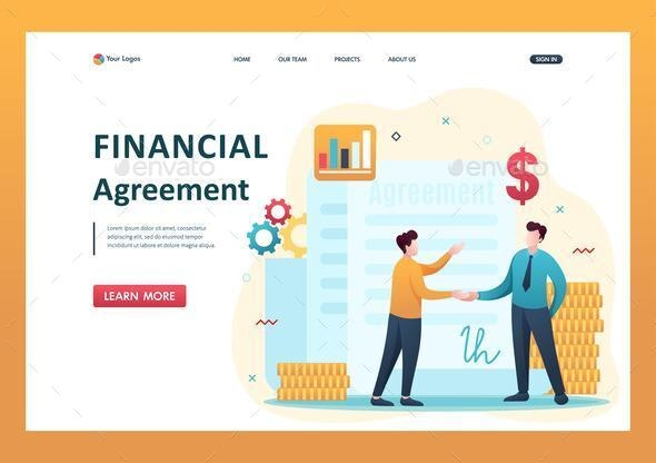 Concept of Creating a Financial Agreement - People Characters