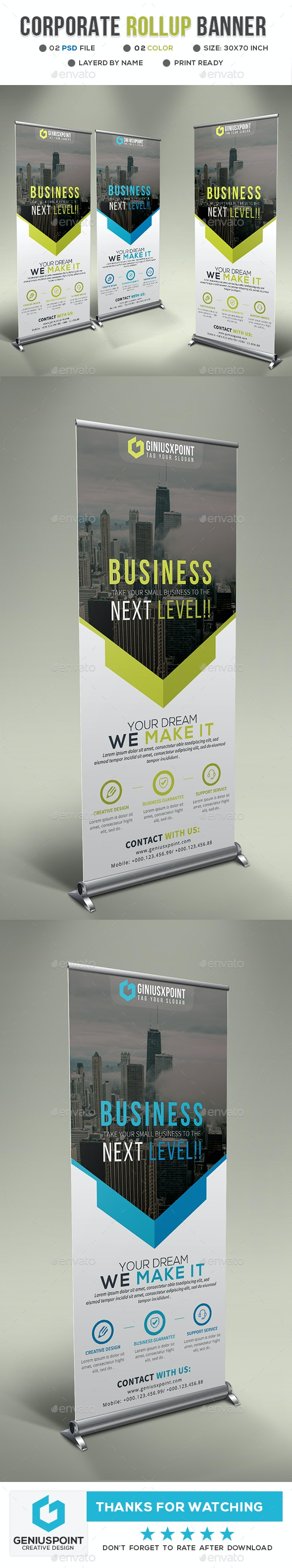 Business Roll-up Banner - Signage Print Templates