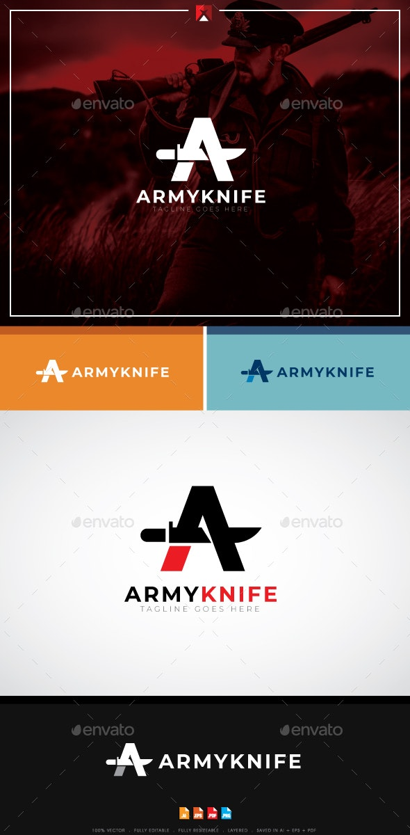 Army Knife Logo - Letters Logo Templates