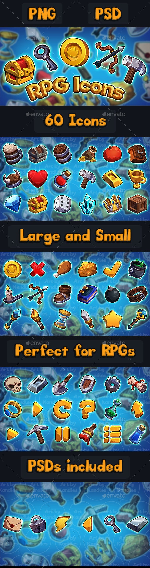 RPG Icons Set - User Interfaces Game Assets