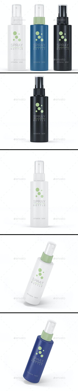 Spray Bottle Mockup - Product Mock-Ups Graphics