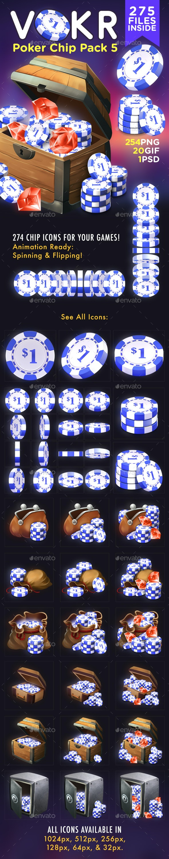 VOKR - Poker Chip Pack 5 - Game Kits Game Assets