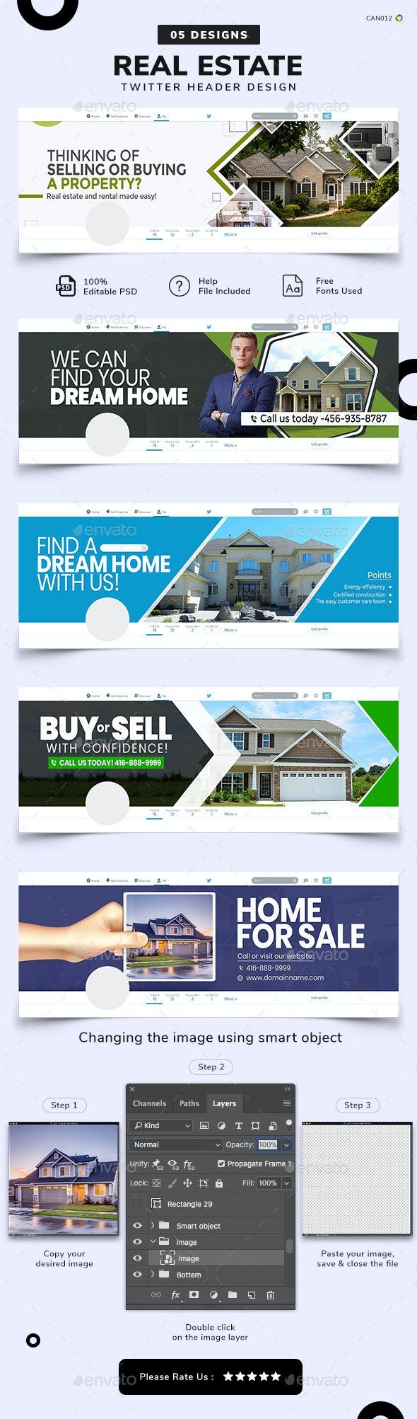 Real Estate Social Media Cover Set - Social Media Web Elements