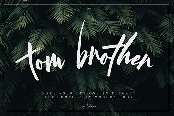 Tom Brother - Handwriting Fonts