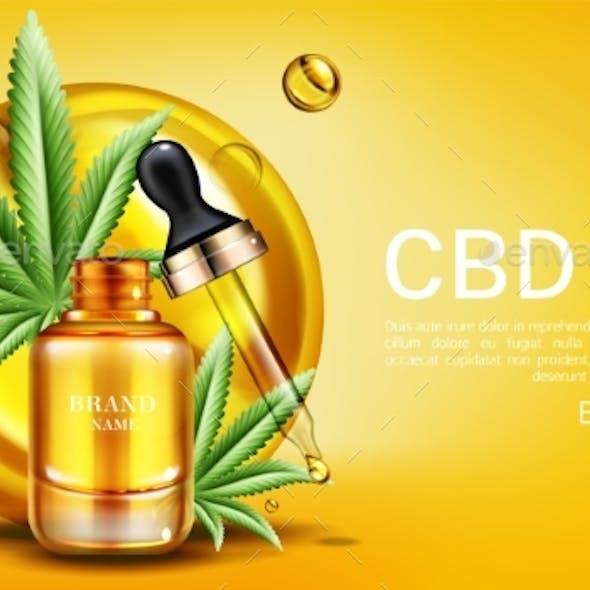 CBD Oil Banner Mockup Hemp Cannabinoid Extract