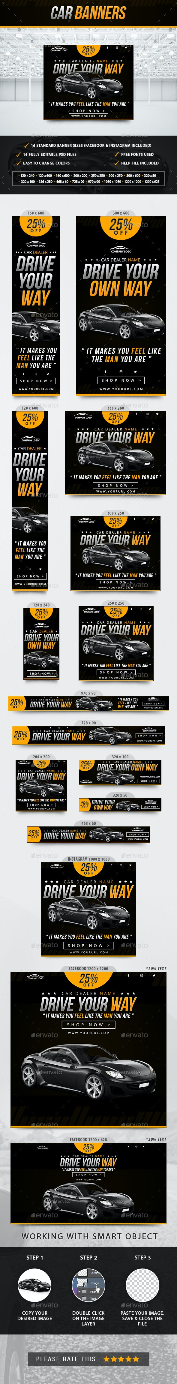 Car Banners - Banners & Ads Web Elements