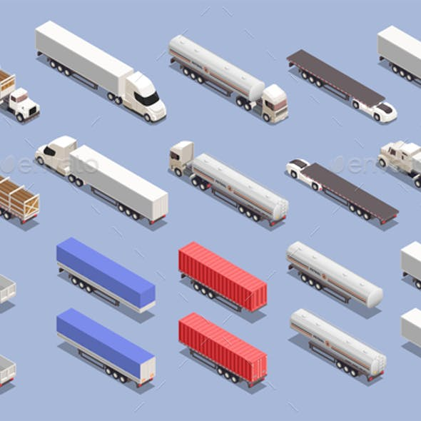 Trucks Isometric Set