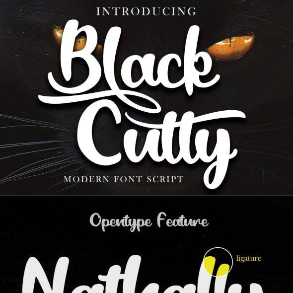 Black Catty - Script Font