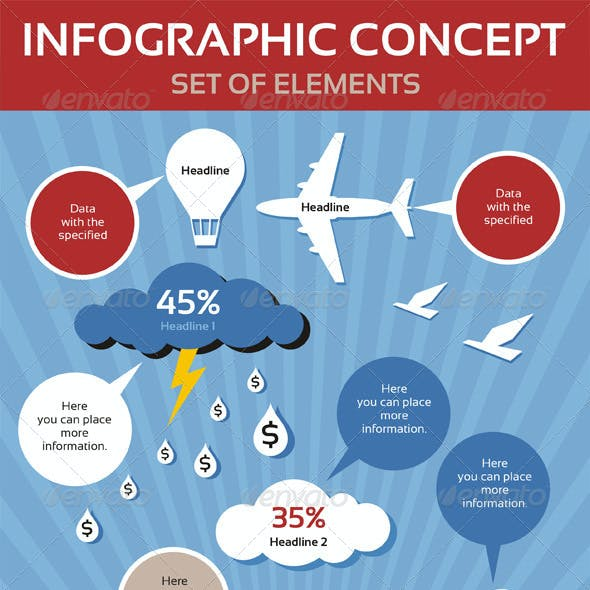 Infographic Concept & Set of Elements