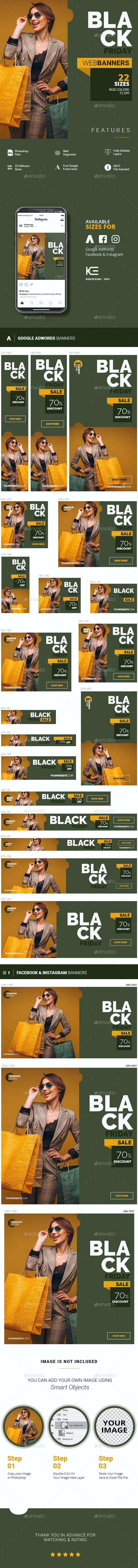 Black Friday Web Banners - Banners & Ads Web Elements