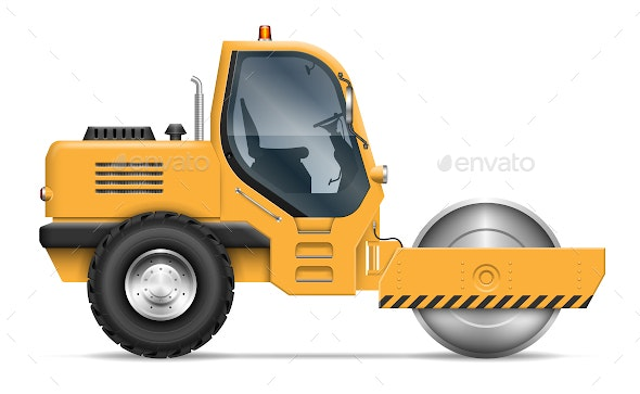 Road Roller - Man-made Objects Objects