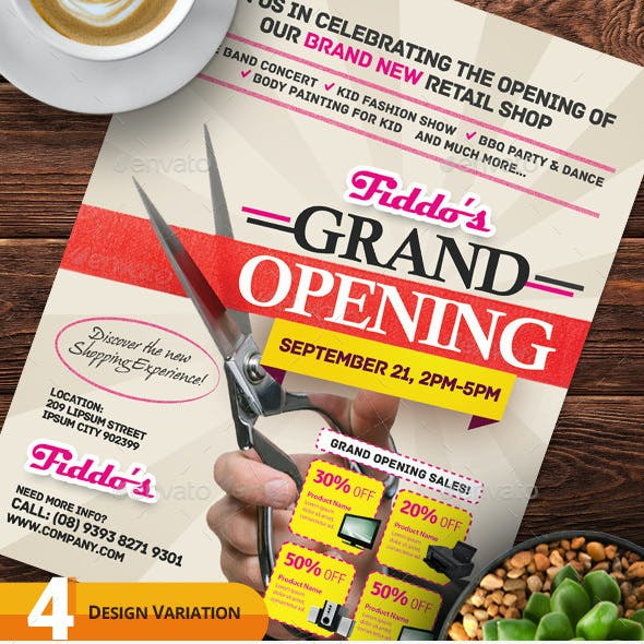 Grand Opening Flyers Vol.02