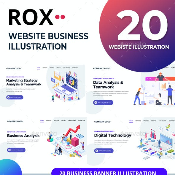 Rox - 20 Business Banner Illustration