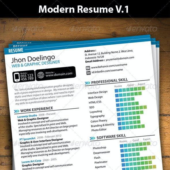 Modern Resume V.1