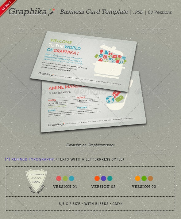 Graphika Business Card Template - Creative Business Cards