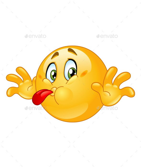 Tongue Out Emoticon - People Characters