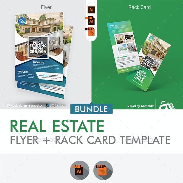 Real Estate Flyer with Rack Card Bundle