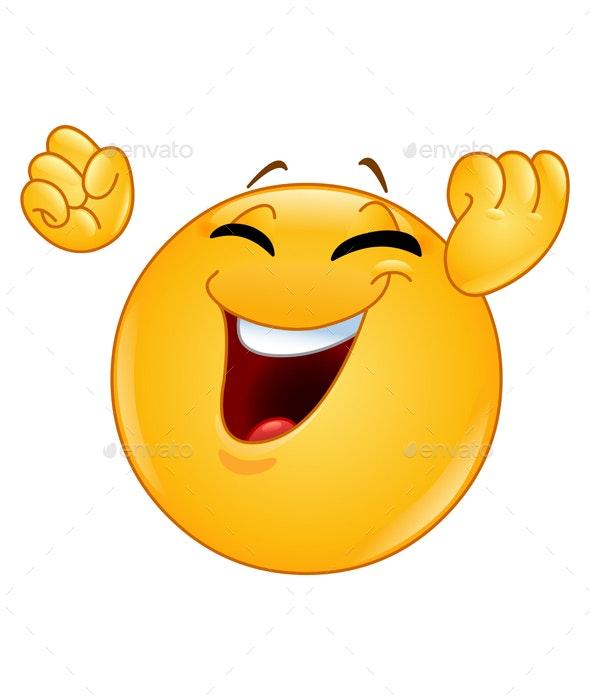 Winning Gesture Emoticon - People Characters
