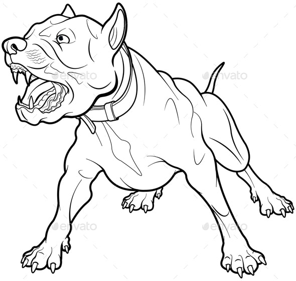Barking Dog - Animals Characters