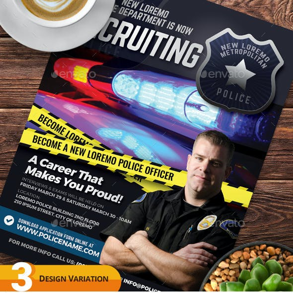 Police Recruitment Flyer Templates