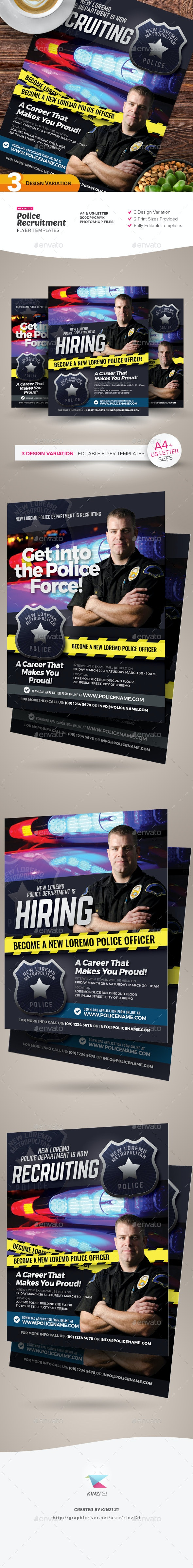 Police Recruitment Flyer Templates - Corporate Flyers