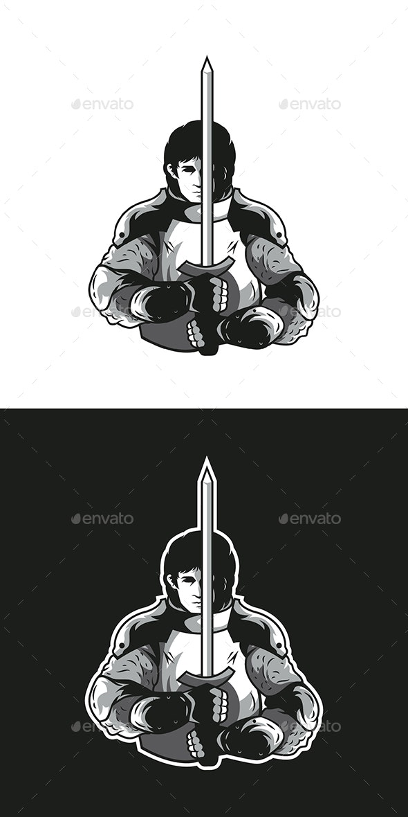 Brave Knight Vector - People Characters