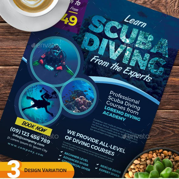 Scuba Diving Flyer Templates