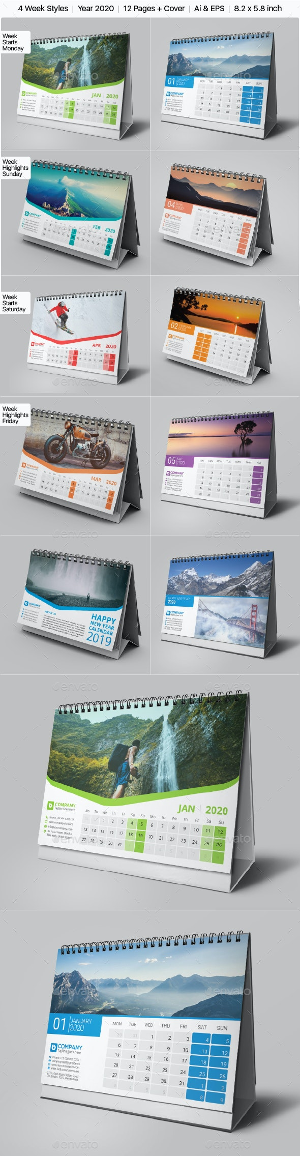 Calendar 2020 Bundle - Calendars Stationery