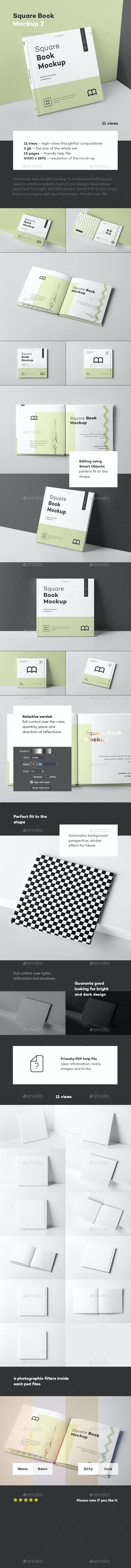Square Book Mock up 2 - Books Print