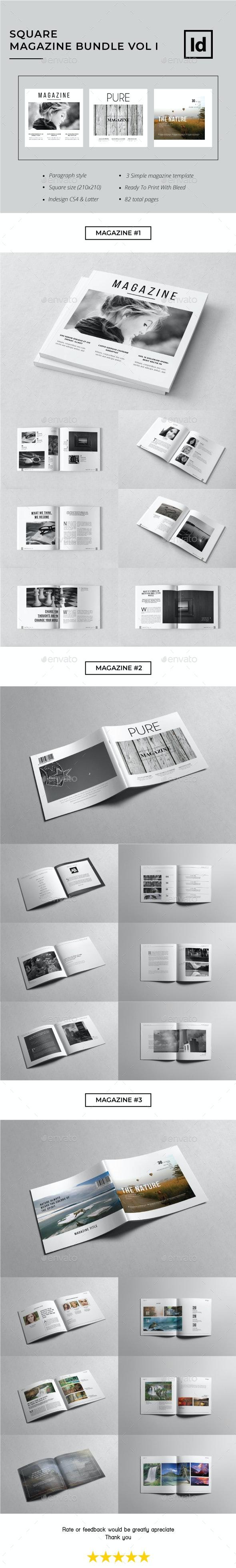 Square Magazine Bundle Vol. I - Magazines Print Templates