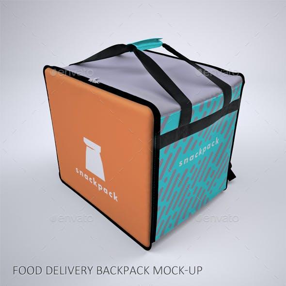 Food Delivery Backpack Mock-Up