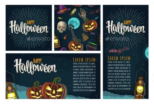 Seamless Pattern for Halloween Party - Halloween Seasons/Holidays