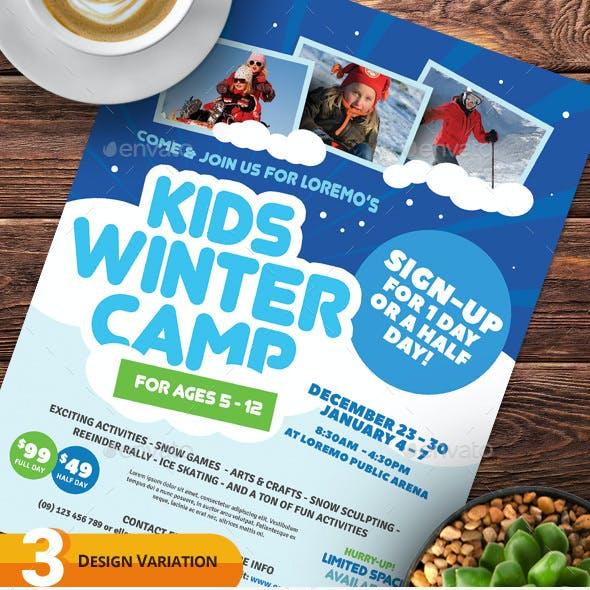 Kids Winter Camp Flyer Templates