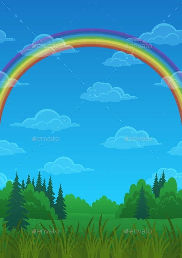Landscape Rainbow and Forest - Landscapes Nature