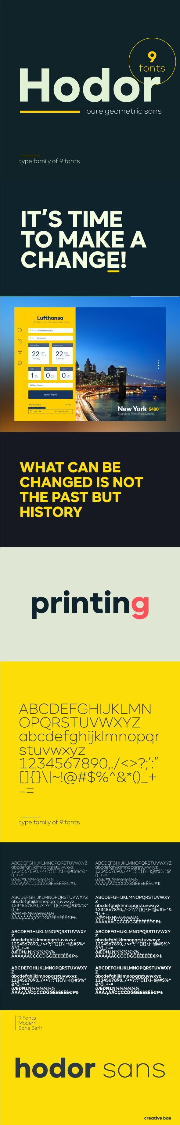 Hodor Sans Serif Font - Miscellaneous Sans-Serif