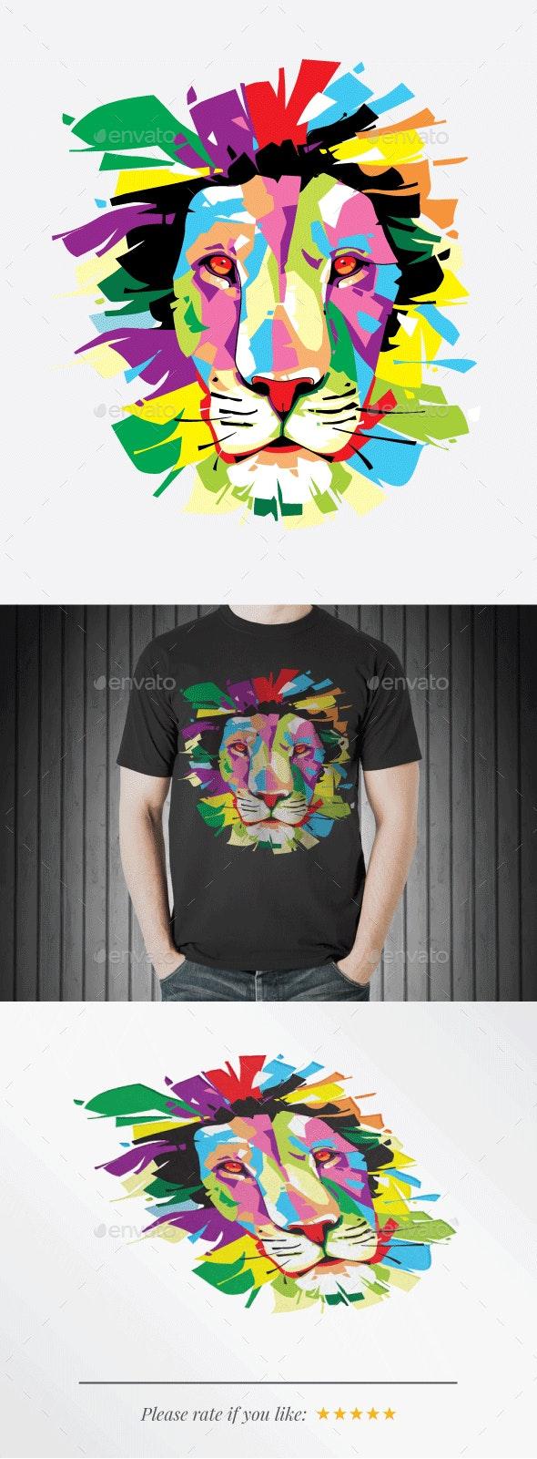 Lion Portrait - Animals Characters