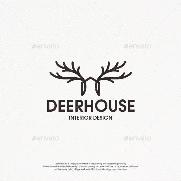 Deer House Logo Template