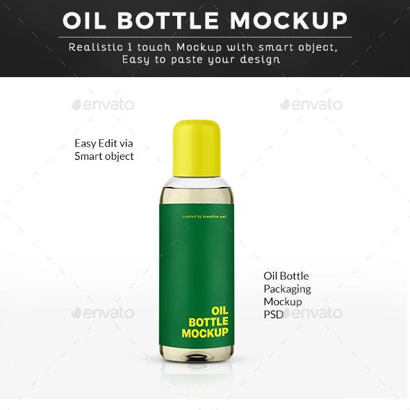 Oil Bottle Packaging Mockup