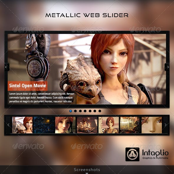 Metallic Web Slider