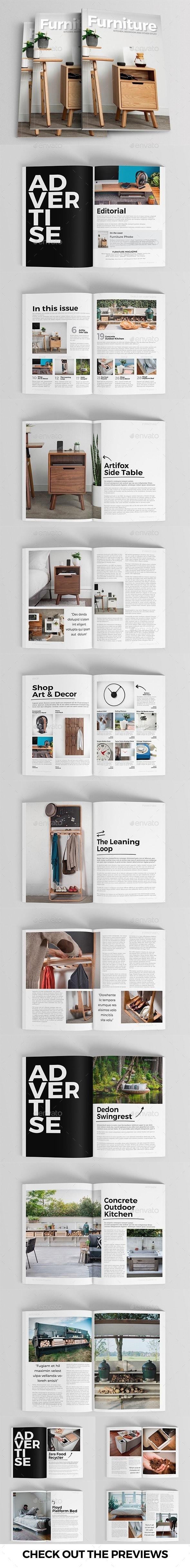 Furniture & Deco Magazine Template - Magazines Print Templates