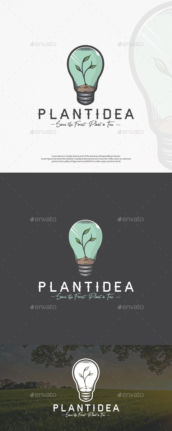Plant Idea Logo Template - Nature Logo Templates