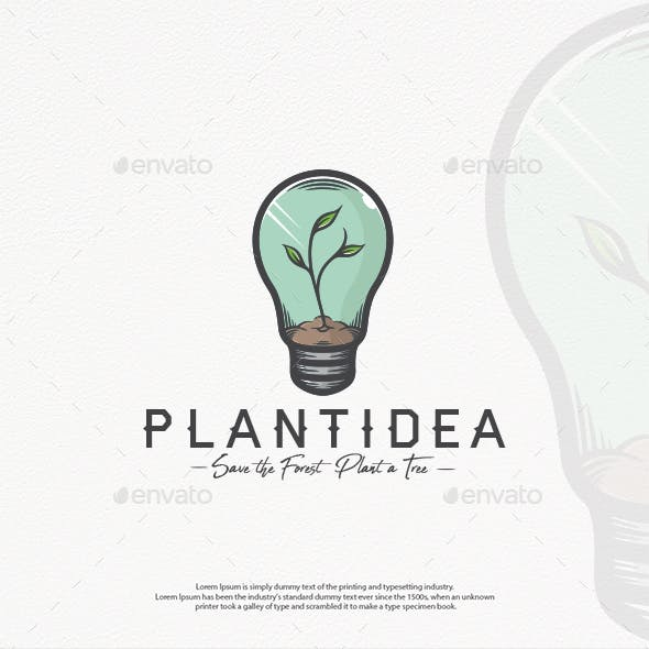 Plant Idea Logo Template
