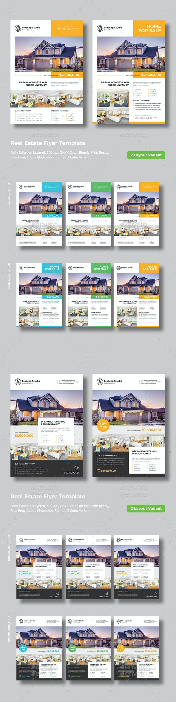 Real Estate Flyer (Bundle 01) - Flyers Print Templates