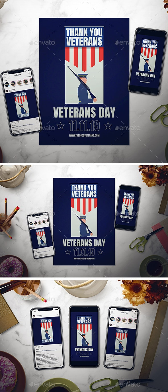Veterans Day Flyer Set - Events Flyers