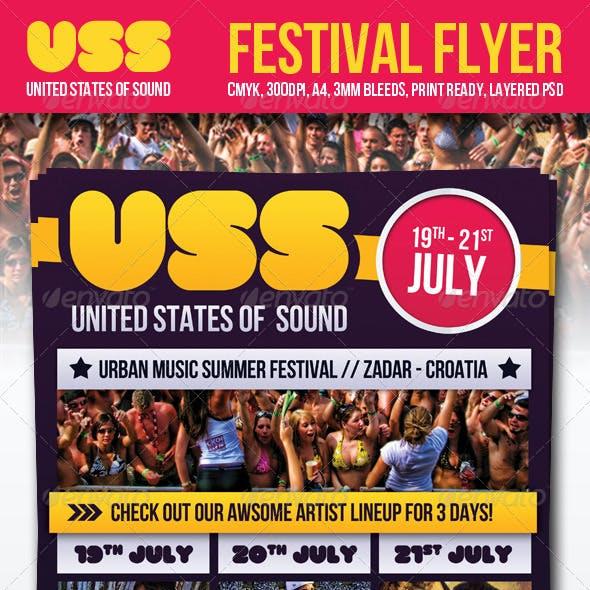 Festival Flyer United States Of Sound